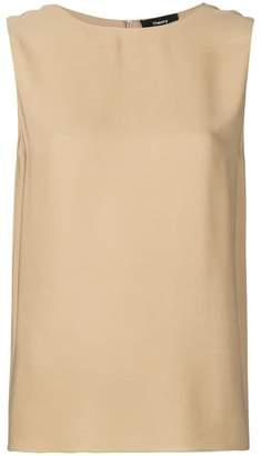 Theory sleeveless round neck top