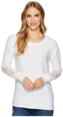 Allen Allen Box Thermal Lace Patch Crew Women's Clothing