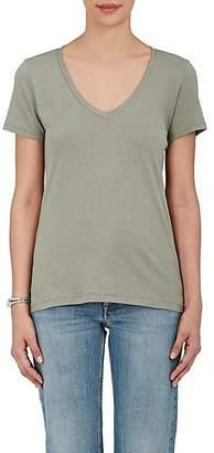 Barneys New York Women's Pima Cotton V-Neck T-Shirt - Army