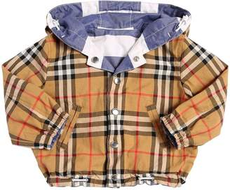 Burberry Reversible Check Cotton Gabardine Jacket