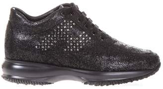 Hogan Embellished Shiny Suede Interactive