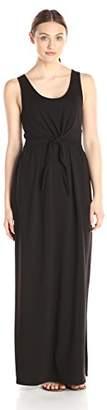 Lark & Ro Women's Sleeveless Knotted Front Maxi Dress
