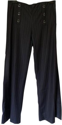 Adolfo Dominguez Navy Trousers for Women