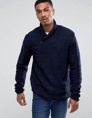 Bellfield Textured Shawl Collar Sweater