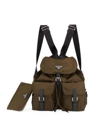 8ef657c2f16b Prada Large Nylon Drawstring Backpack, Green