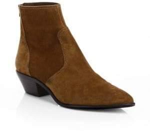 Loeffler Randall Women's Joni Suede Point Toe Booties - Brown - Size 5