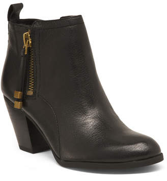 Franco Sarto Leather Side Zip Booties