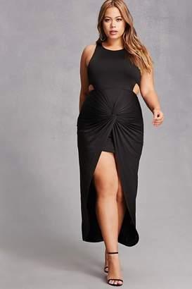 Forever 21 Plus Size Split High-Low Dress