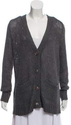 360 Sweater Silk-Blend Knit Cardigan