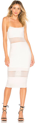 by the way. Naomi Mesh Cut Out Midi Dress