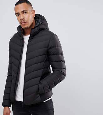 Brave Soul TALL Nylon Hooded Padded Hooded Jacket