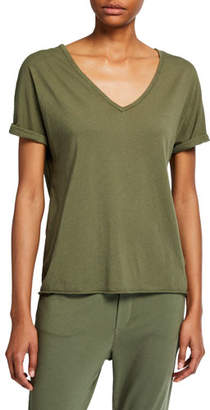 Frank And Eileen Deep V-Neck Cotton Tee