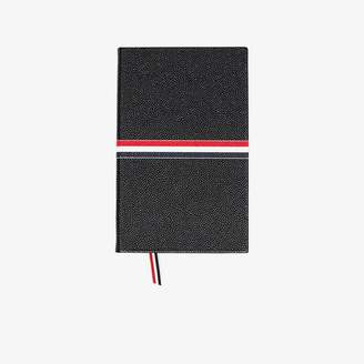 Thom Browne Mens Black Stripe Large Notebook