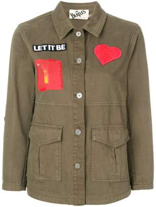 Alice + Olivia Alice+Olivia patch military jacket