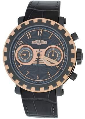 Dewitt Academia AC.6005.053A.M091 18K Rose Gold/Neotitanium & Leather Automatic 43mm Mens Watch