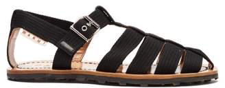 Marni Multi Strap Canvas Sandals - Mens - Black