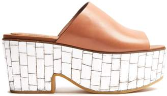 See by Chloe Mirror-platform leather mules