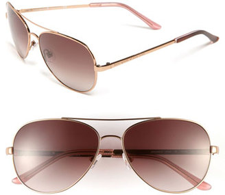 Women's Kate Spade New York 'Avaline' 58Mm Aviator Sunglasses - Rose Gold/ Brown Gradient $160 thestylecure.com
