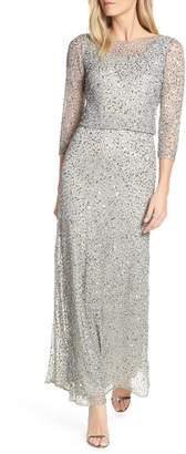 Pisarro Nights Embellished Blouson Evening Dress