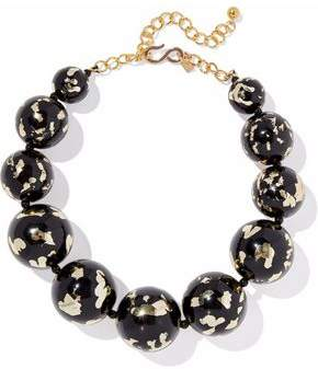 Kenneth Jay Lane Gold-Tone Painted Bead Necklace