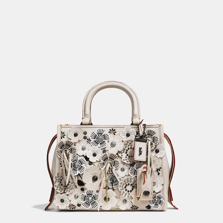 Coach   COACH Coach Rogue 25 In Glovetanned Pebble Leather With Wild Tea Rose