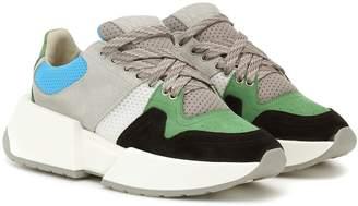 MM6 MAISON MARGIELA Paneled suede sneakers