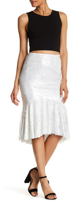 Beulah Sequin Ruffle Skirt $55.97 thestylecure.com