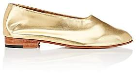 "Martiniano Women's ""Glove"" Metallic Leather Flats - Gold"