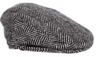 Burberry Houndstooth Newsboy Hat