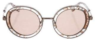 Salvatore Ferragamo Round Mirrored Sunglasses w/ Tags