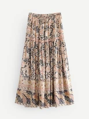 Shein Floral Print A-line Skirt