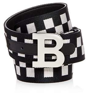 Bally Check & Leather Reversible Belt