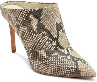 Dolce Vita Women's Cinda Snake-Embossed Leather High-Heel Mules