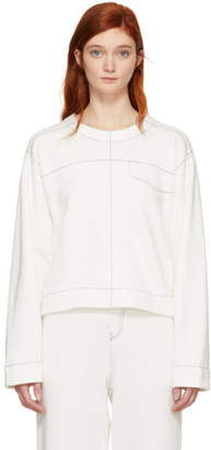 MM6 MAISON MARGIELA White Contrast Stitch Sweatshirt
