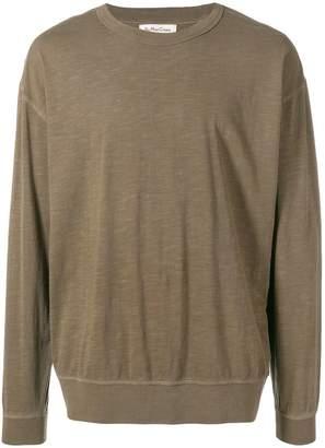 YMC long-sleeve fitted sweatshirt