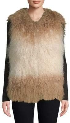 Adrienne Landau Dyed Lamb Fur Vest