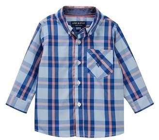 Andy & Evan Blue Plaid Shirt (Baby Boys)