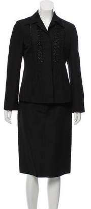 Alberta Ferretti Beaded Skirt Suit