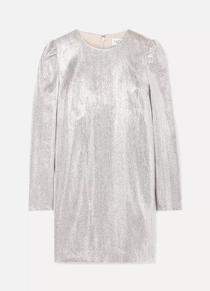 Rachel Zoe Ami Metallic Woven Mini Dress - Silver