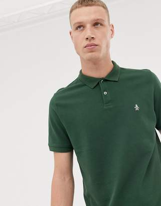 Original Penguin icon logo raised rib polo in green