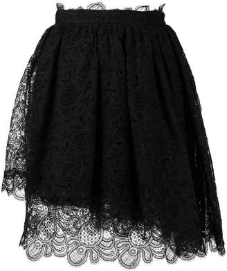 Ermanno Scervino lace detail short skirt