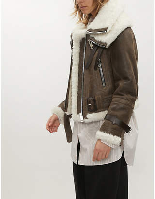 Burberry Aviator leather jacket