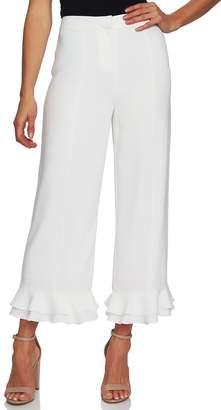 CeCe Ruffle Trim Crop Pants