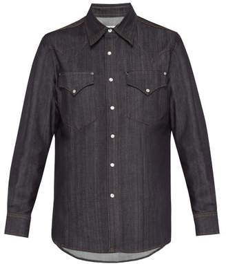Eytys Sierra Raw Slim Fitting Denim Shirt - Mens - Indigo