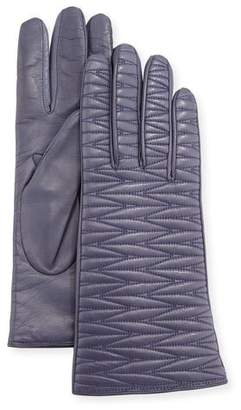 Portolano Leather Weave Quilted Gloves