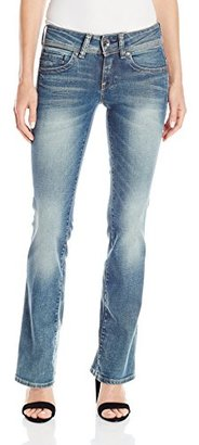 G-Star Raw Women's Midge Saddle Mid Rise Bootleg Fit Jean in Maidu Stretch $117.48 thestylecure.com