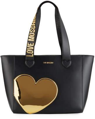Love Moschino Metallic Heart Shoulder Bag