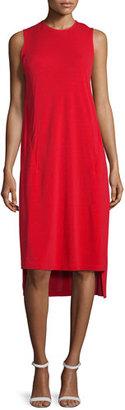 DKNY Cape-Sleeve Jersey Midi Dress, Vermillion $295 thestylecure.com