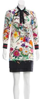 Gucci Flora Snake Silk Dress Multicolor Flora Snake Silk Dress