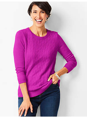 Talbots Cable Crewneck Sweater